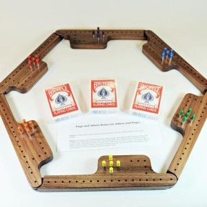 Pegs & Jokers Game Set - Black Walnut