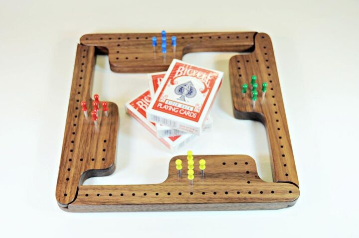 Pegs & Jokers Game Set - Black Walnut - 4 Player