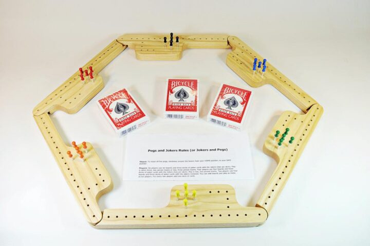 Pegs & Jokers Game Set - White Ash