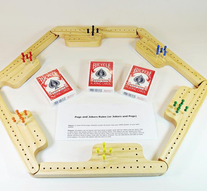 Pegs & Jokers Game Set - White Ash