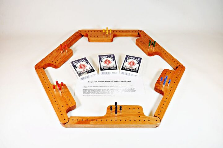Pegs & Jokers Game Set - Black Cherry