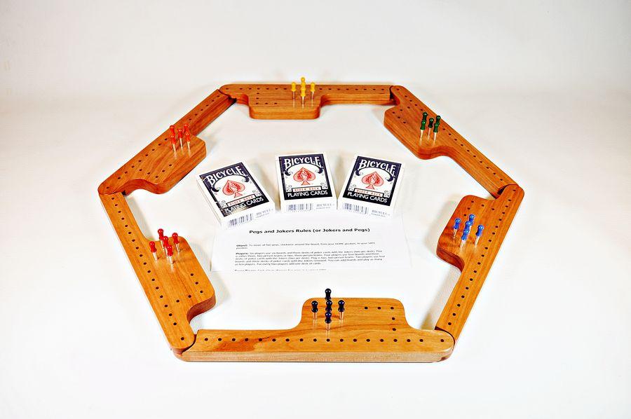 Pegs & Jokers Game Set - Black Cherry