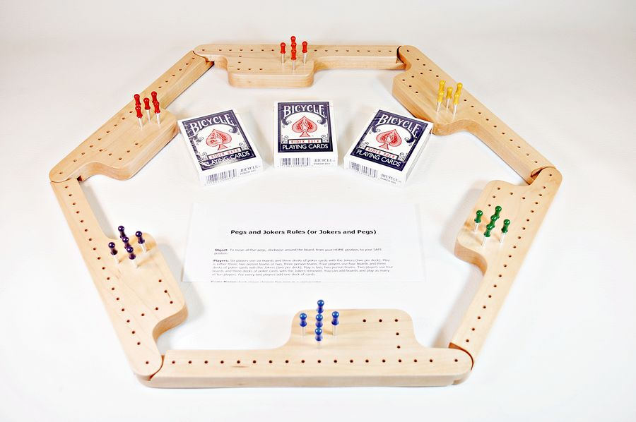 Pegs & Jokers Game Set - Hard Maple