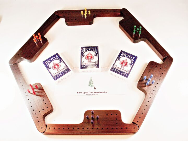 Pegs & Jokers Game Set - Peruvian Walnut