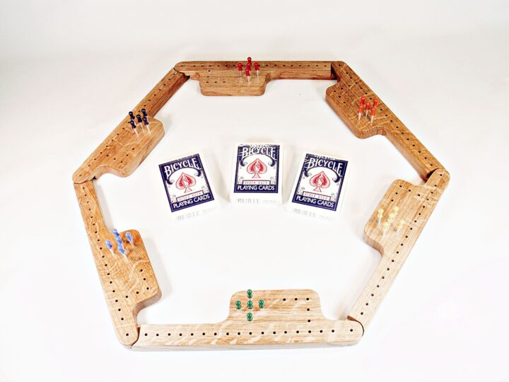 Pegs & Jokers Game Set - Quarter-Sawn White Oak