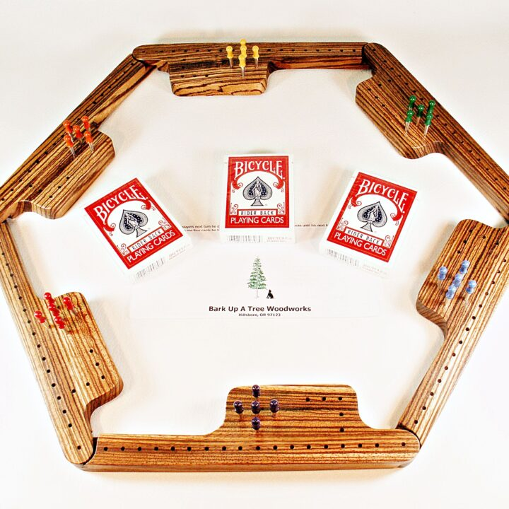 Pegs & Jokers Game Set - Zebrawood