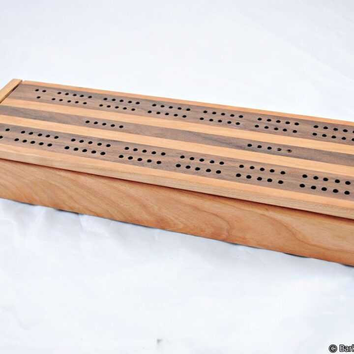 Dual Deck Cribbage Box - Black Cherry & Black Walnut