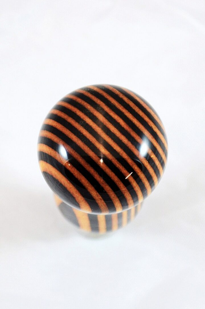 Bottle Stopper - SpectraPly Wildfire with Stainless Steel Top