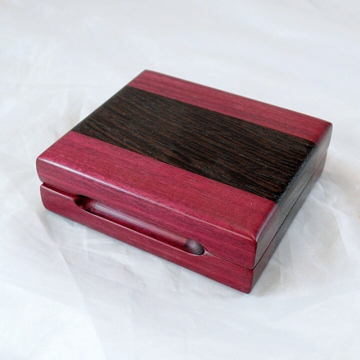 Playing Card Case #58 - Purpleheart & Wenge