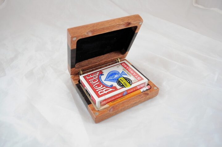 Playing Card Case #59 - Lacewood & Wenge Open