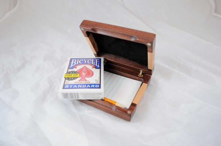 Playing Card Case #61 - Granadillo & Curly Maple Cards
