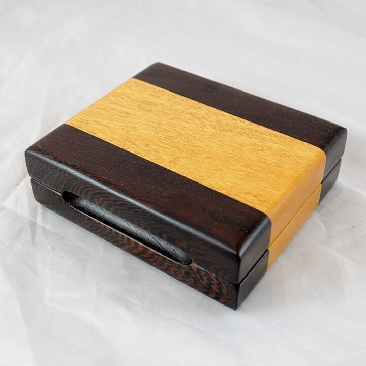 Playing Card Case #68 - Wenge & Yellowheart
