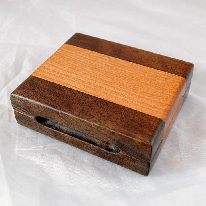 Playing Card Case #77 - Black Walnut & Black Cherry