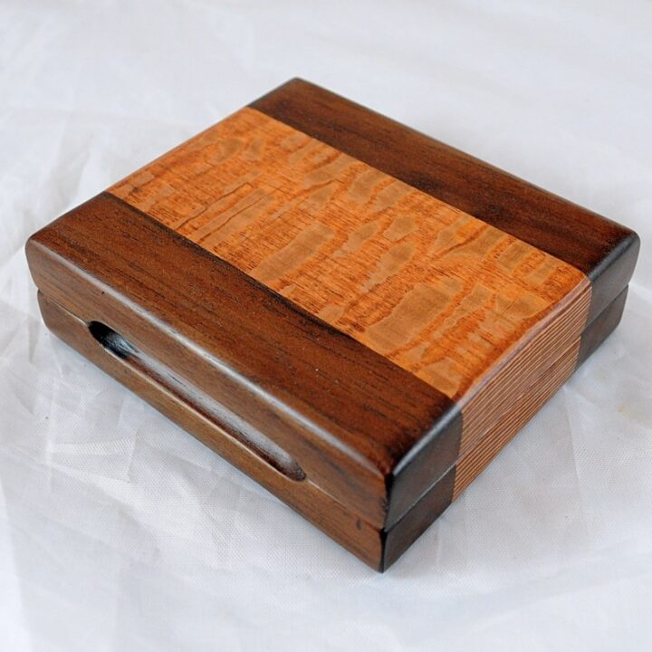 Playing Card Case #80 - Peruvian Walnut & Lacewood